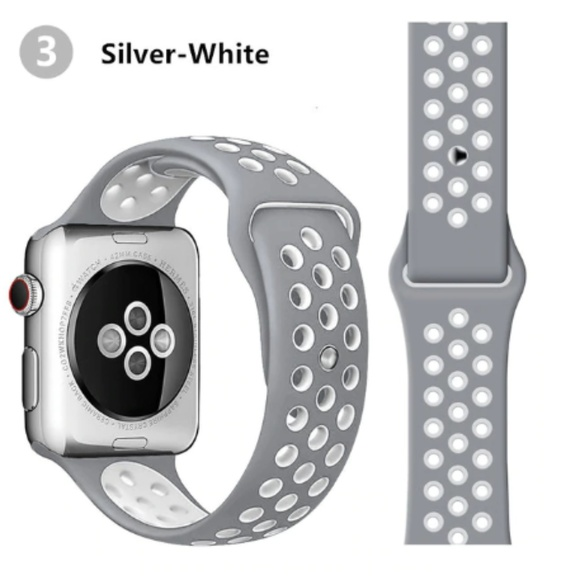 Other - NEW[BAND] SliverW Sport Silicone For Apple Watch